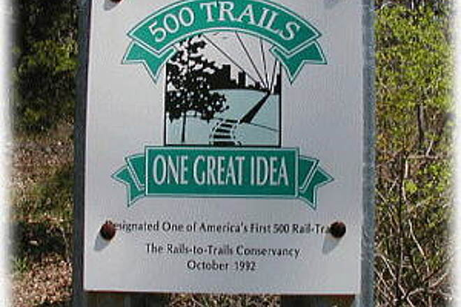 Old Railroad Bed Trail  Sign on trail The Railroad Bed Trail was one of the country's first 500 Rails-To-Trails projects. This marker stands at the Huntsville Land Trust parking lot, off Bankhead Parkway. The trail follows the bed of the former narrow gauge railroad.