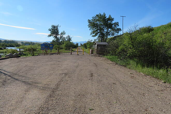 Old Yellowstone Trail Garrison Trailhead Parking area and trailhead at Garrison end.