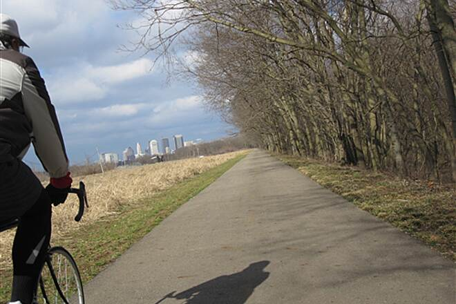 Olentangy Trail There are several nice views of the Columbus skyline.