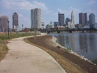 Olentangy Trail Skyline of Downtown Columbus Ohio