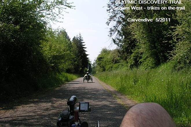 Olympic Discovery Trail - Blyn to Elwha River OLYMPIC DISCOVERY TRAIL - Sequim Nothing more comfortable than a trike on the trail.