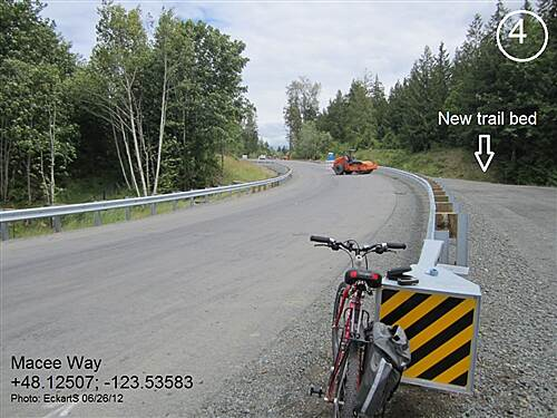 Olympic Discovery Trail - Blyn to Elwha River Olympic Discovery Trail West Central - Lake and Foothills Section Trail construction along Macee Way