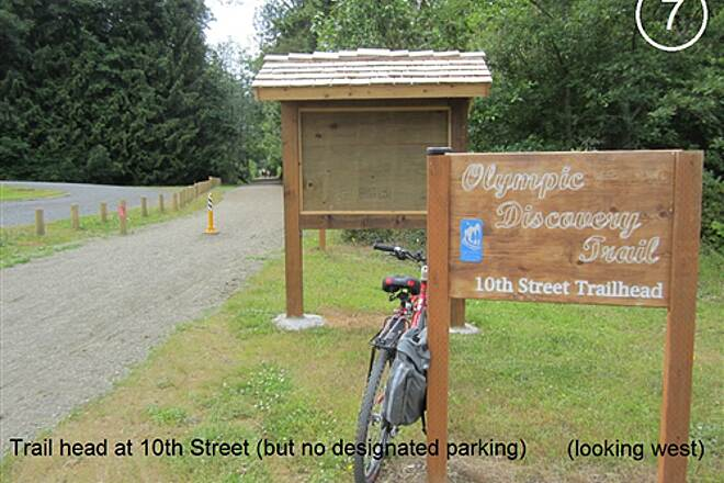 Olympic Discovery Trail - Blyn to Elwha River Olympic Discovery Trail West Central - Lake and Foothills Section Trail head at W. 10th Stree has no designated parking