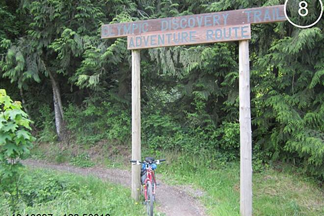Olympic Discovery Trail - Blyn to Elwha River Olympic Discovery Trail West Central - Lake and Foothills Section Olympic Discovery Trail - Adventure Route trail entrance