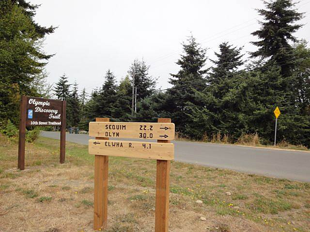 Olympic Discovery Trail - Blyn to Elwha River Signpost on newly Developed section