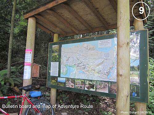 Olympic Discovery Trail - Spruce Railroad Trail Olympic Discovery Trail West Central - Lake and Foothills Section Adventure Route bulletin board and trail map