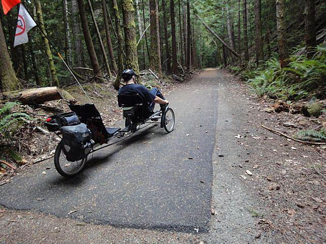Olympic Discovery Trail - Spruce Railroad Trail The end of paved trail headed in from West end of Lake Crescent