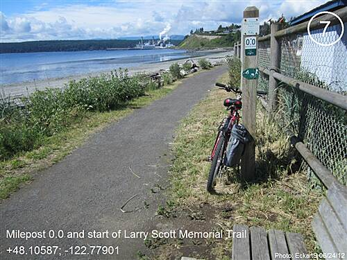 Olympic Discovery Trail East - Port Townsend Olympic Discovery Trail East - Sound and Bay Section Milepost 0.0 and start of trail