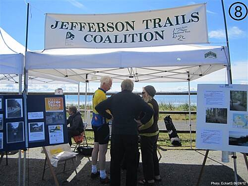 Olympic Discovery Trail East - Port Townsend Olympic Discovery Trail East - Sound and Bay Section Jefferson County Trails Coalition exhibit at trail head