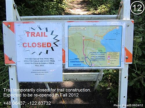 Olympic Discovery Trail East - Port Townsend Olympic Discovery Trail East - Sound and Bay Section Temporary trail closure at S. Discovery Rd. due to trail construction
