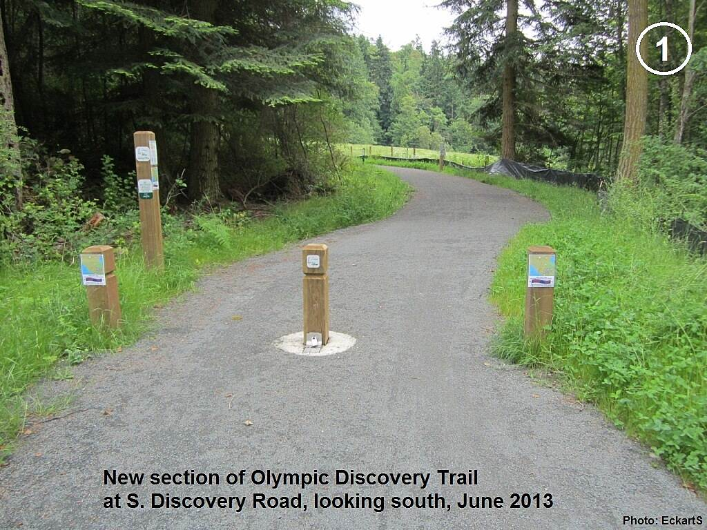 Olympic Discovery Trail East - Port Townsend New trail section New trail section of Olympic Discovery Trail, at Discovery Rd., looking south