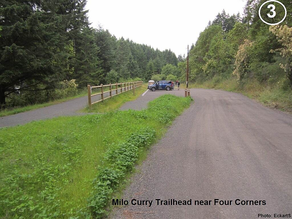 Olympic Discovery Trail East - Port Townsend Milo Curry Trailhead Milo Curry Trailhead near Four Corners