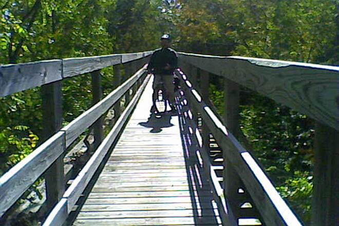 Ontario Pathways Rail Trail Ontario Pathways long bridge