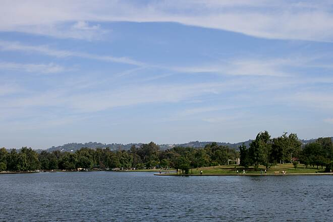 Orange Line Bike Path Lake Balboa