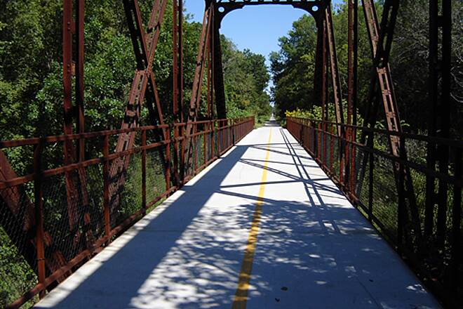 Osage Prairie Trail Osage Prairie Rail to Trail Bridge about 3.5 miles from Skiatook
