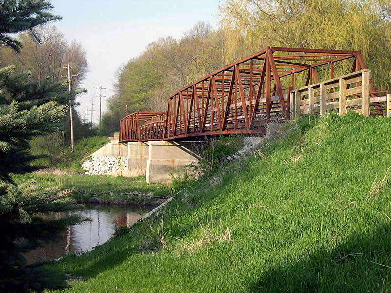 Ozaukee Interurban Trail Another view of the bridge A great place for a peaceful rest stop.