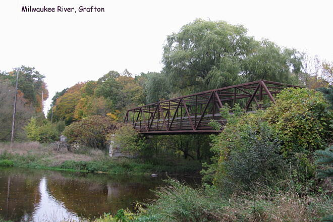 Ozaukee Interurban Trail Milwaukee River at Grafton