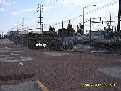 Pacific Electric Bike Trail Crossing Flood Control Channel