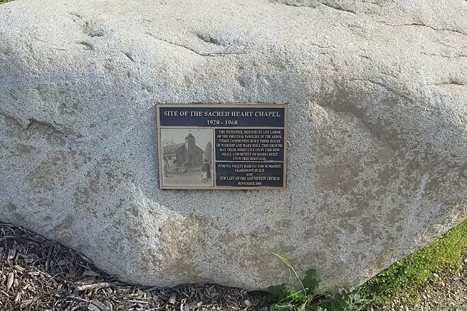 Pacific Electric Inland Empire Trail Marker at End of Trail Montclair Blvd & Huntington