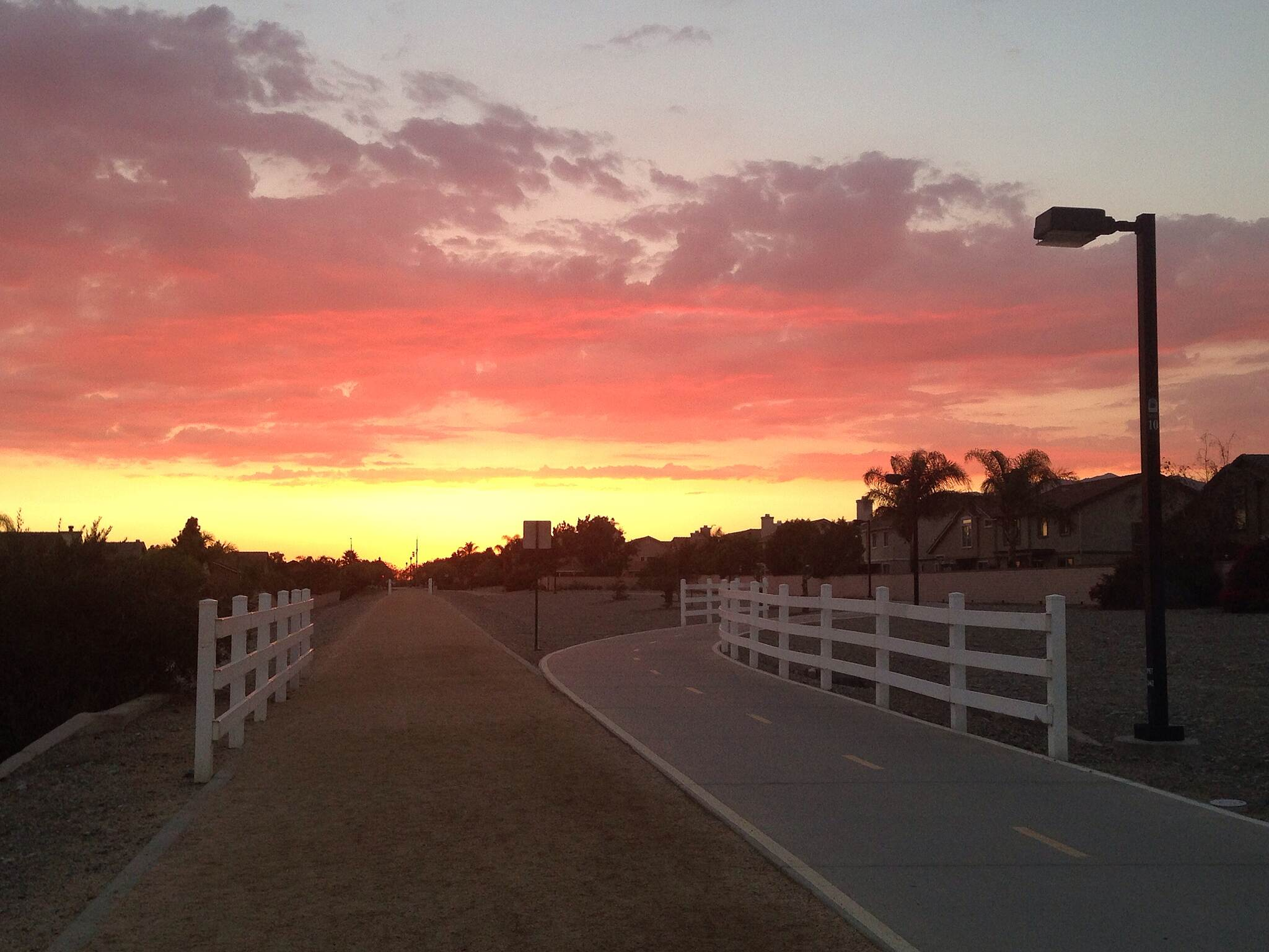 Pacific Electric Inland Empire Trail My evening jog in the sunset It is so beautiful sunset during my jog today.