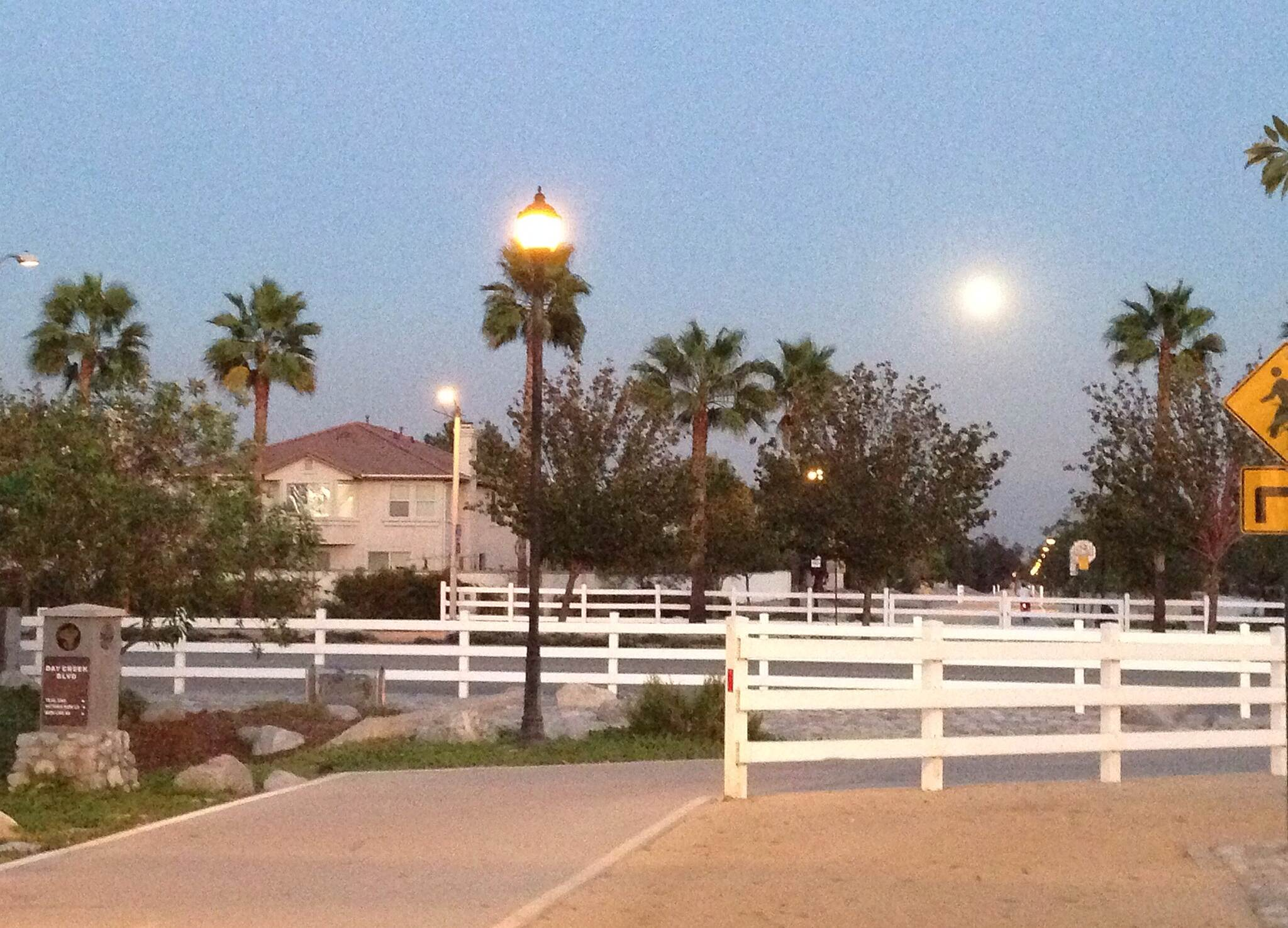 Pacific Electric Inland Empire Trail Full moon