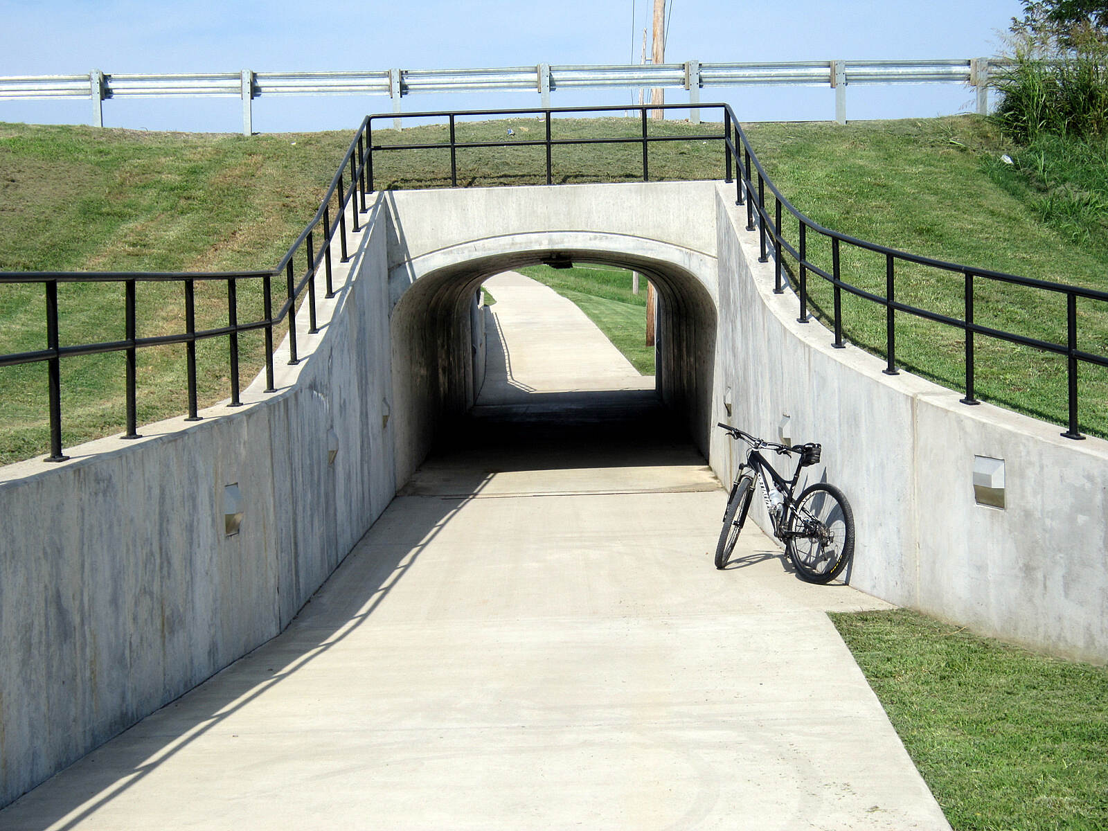 Paducah Greenway  Underpass Underpass with the busy Hwy - 45 on top, this was a great idea putting this in imo.