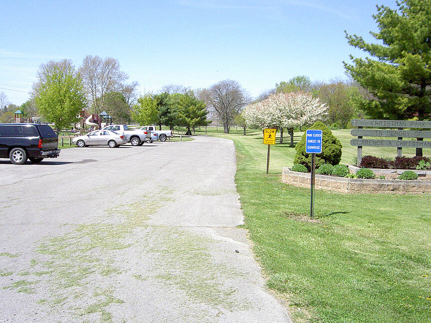 Paint Creek Recreational Trail Washington CH April 2015 Parking at Christman Park
