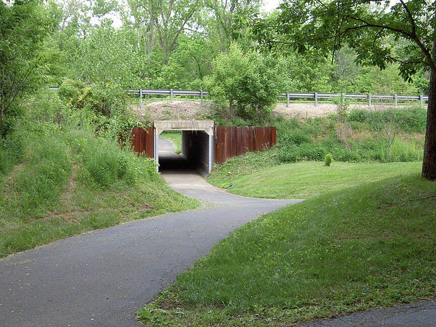 Paint Creek Recreational Trail Chillicothe May 2015 Eastbound tunnel under Veterans Pkwy