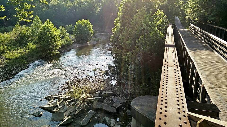 Paint Creek Recreational Trail View from the observation deck Beautiful scenes from the observation deck on one of the many bridges!