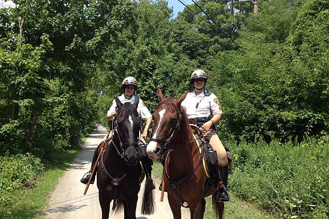 Paint Creek Trail (MI) Horseback patrols add a nice touch to the trail