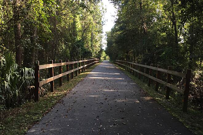 Palatka-Lake Butler State Trail Enjoyed walking the trail this morning!