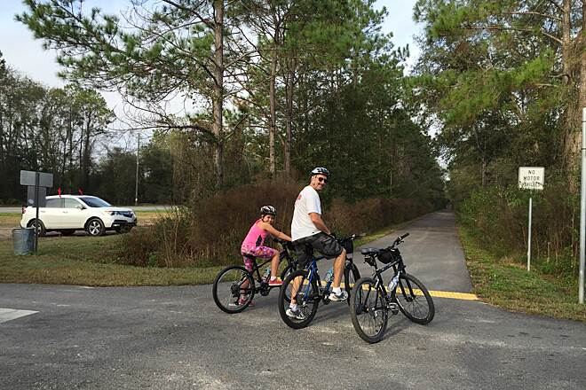 Palatka-to-Lake Butler State Trail Trail head at Roberts Ln