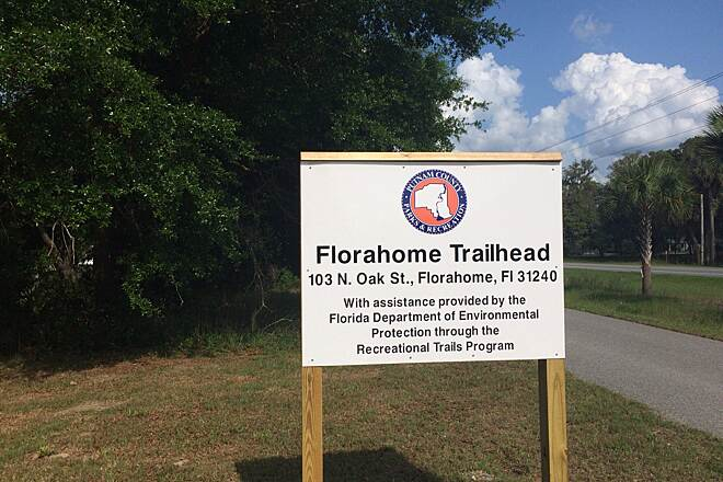 Palatka-to-Lake Butler State Trail Florahome Trailhead