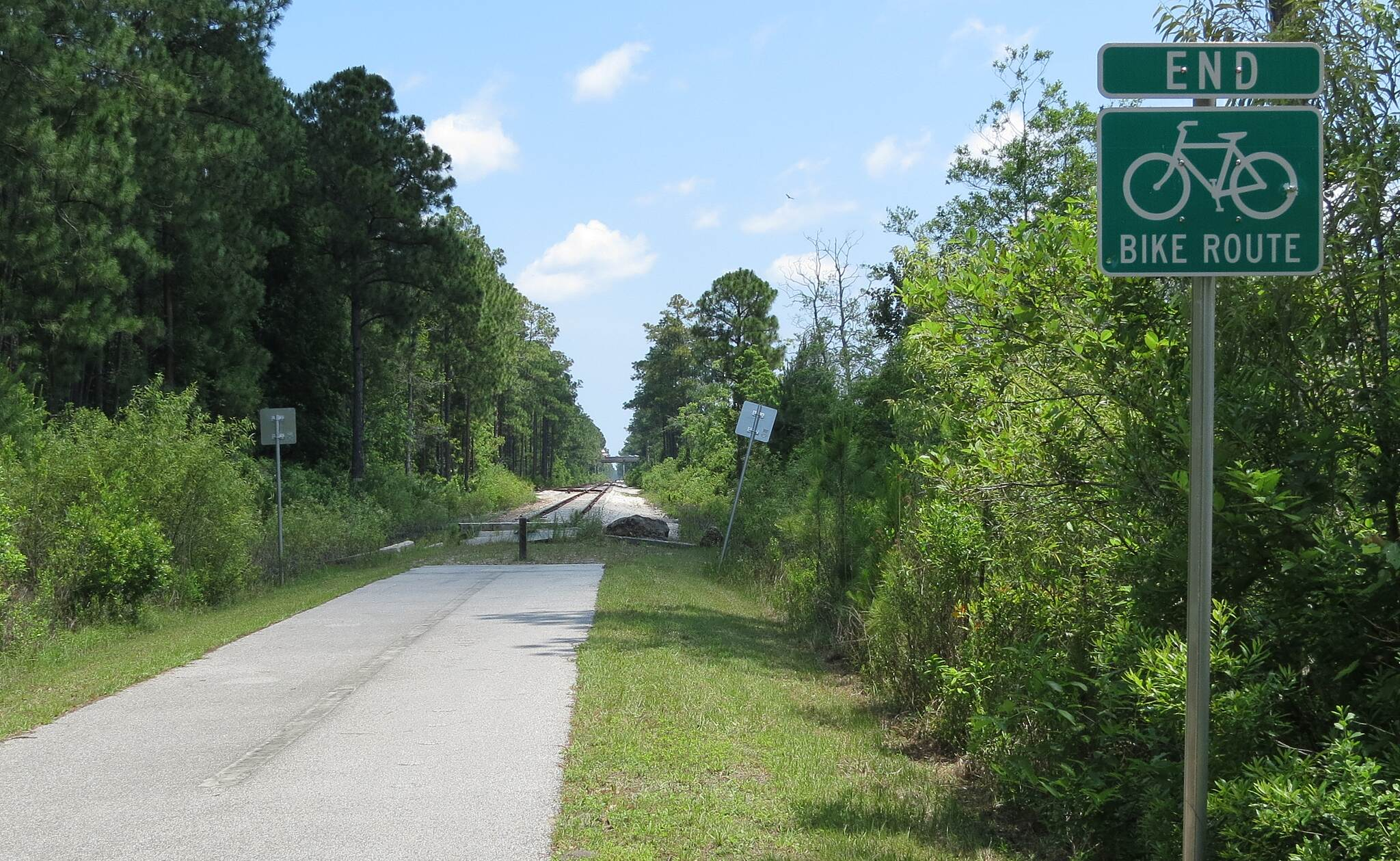 Palatka-to-St. Augustine State Trail North end of Trail North End of trail as of May 2013.  I-95 in background.