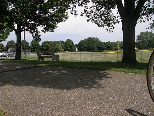 Palmer Township Recreation Trail (Towpath Bike Trail)  Ball Fields along the trail
