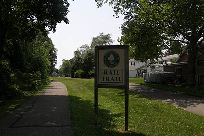 Palmer Township Recreation Trail (Towpath Bike Trail)  Rail Trail Signage