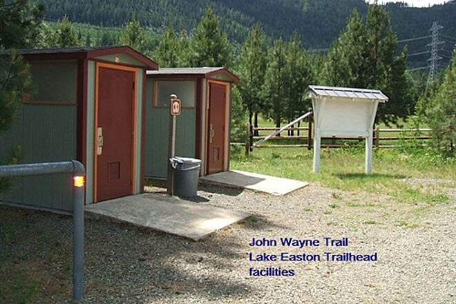 Palouse to Cascades State Park Trail John Wayne Trail Lake Easton Trailhead facilities