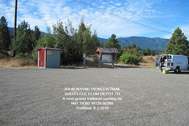 Palouse to Cascades State Park Trail JWPT - S. CLE ELUM DEPOT Lots of parking at this trailhead