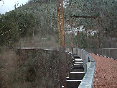 Palouse to Cascades State Park Trail Iron Horse, Mine Creek trestle (December, 2004)