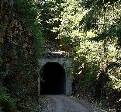 Palouse to Cascades State Park Trail Iron Horse, tunnel near Lake Easton (July, 2005)