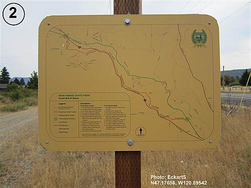 Palouse to Cascades State Park Trail South Cle Elum Depot to Tunnel 47 Detour instructions posted