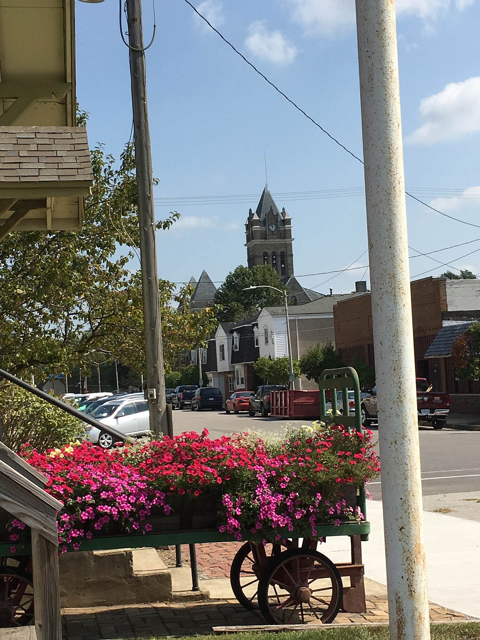 Panhandle Pathway The Courthouse The iconic courthouse in downtown Winamac as seen from the train station.