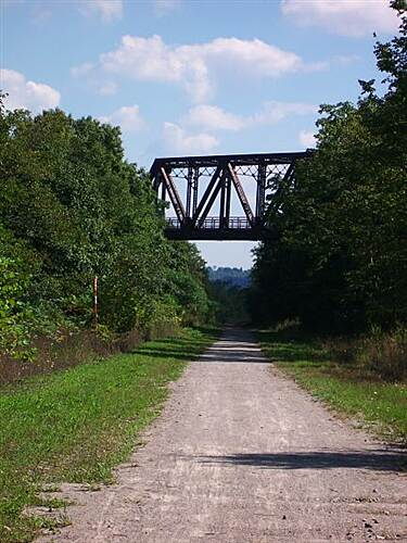 Panhandle Trail McDonald Trestle The McDonald Trestle carries the Montour Trail over the Panhandle Trail