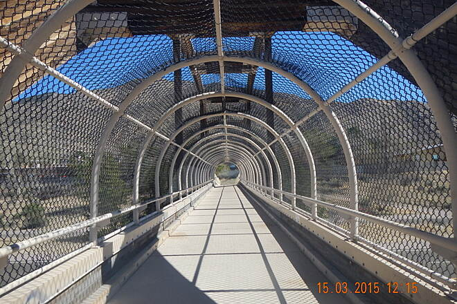 Paseo de las Montanas Trail The Overpass Paseo de las Montanas Trail Tramway Blvd overpass to join Tramway Recreation Trail Mar 15,2015 Noel Keller