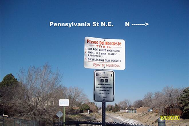 Paseo del Nordeste Recreation Trail Paseo del Nordeste Recreation Trail West side of Pennsylvania St for coasting  down hill