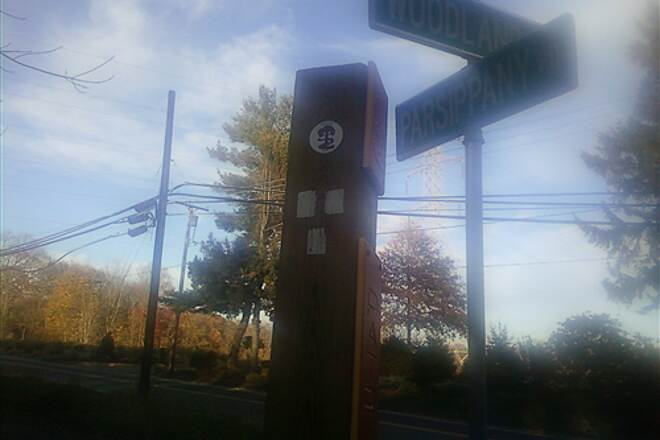Patriots' Path (NJ)   Patriots Path's Temporary End on Parsippany Road