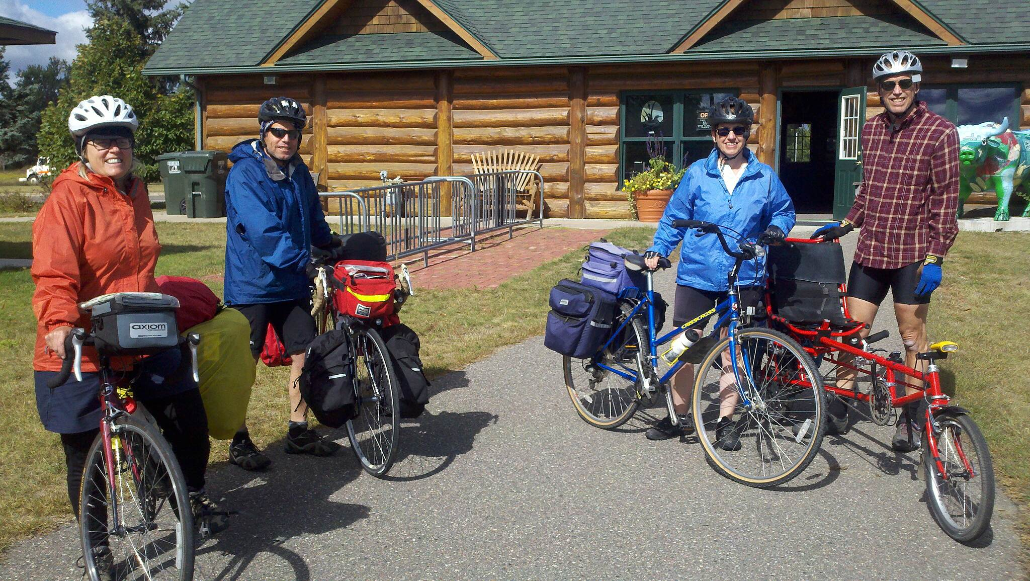 Paul Bunyan State Trail Long Distance Bikes On Paul Bunyan Trail The duo on the left stopped at the Pine River Info Center on their way to Istanbul, Turkey.  They were from Winnipeg, Manitoba.  The duo on the right were biking from New Orleans to the headwaters of the Mississippi River at Itasca State Park.