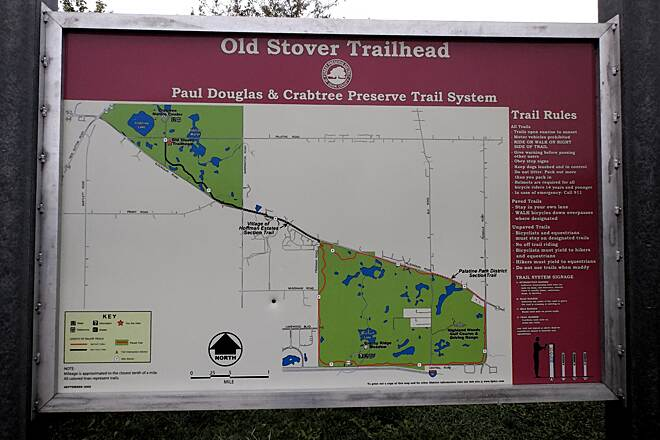 Paul Douglas and Crabtree Preserve Trail System Complete Trail Map