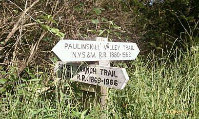 Paulinskill Valley Trail Trail Intersection