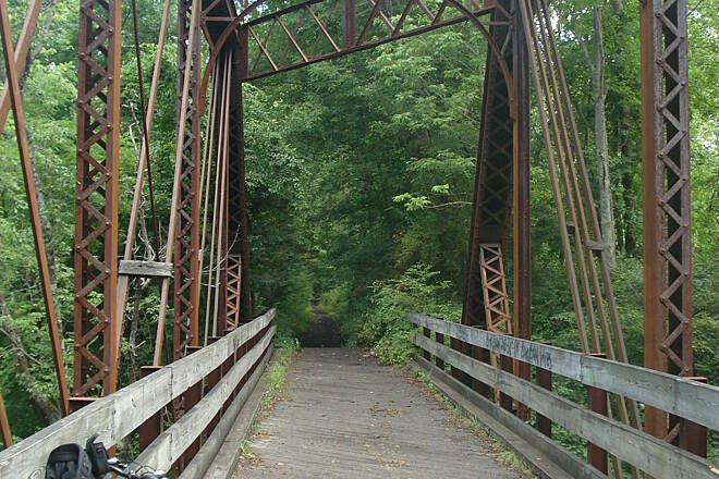 Paulinskill Valley Trail Looking past the Bridge